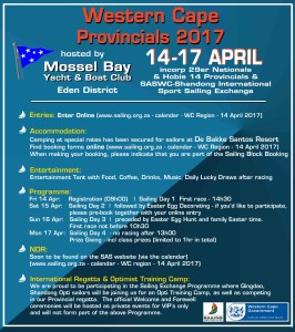 SAS Western Cape Provincials @ Mossel Bay Yacht and Boat Club