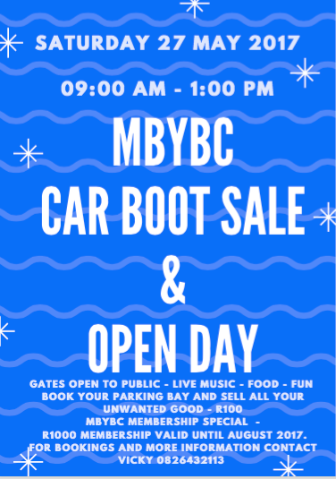 MBYBC Car Boot Sale & Open Day @ Mossel Bay Yacht and Boat Club